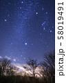 山梨県・冬の大三角形と小さな流星 in パノラマ台 58019491