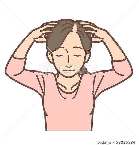頭皮マッサージ女性 進行度2 58025534