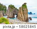 伊豆半島浮島海岸の奇岩、静岡県賀茂郡西伊豆町にて 58025845