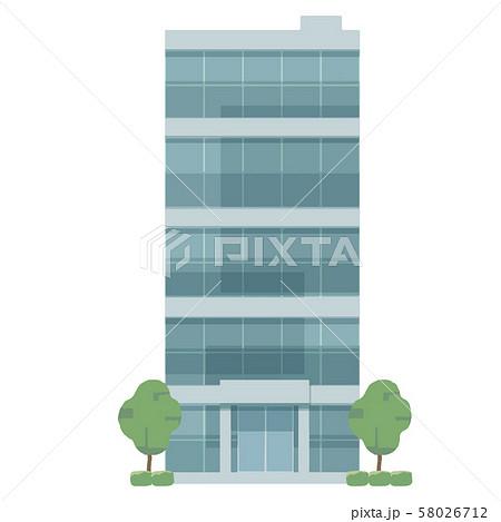 ガラス張り オフィスビル イラスト 58026712