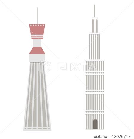 塔 タワー イラスト 58026718