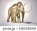 Woolly mammoth with skeleton in ghost effect, 58036699