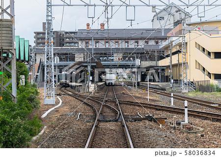 長浜駅に停車中のしらさぎ号と新快速 58036834