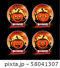 Halloween pumpkins, Background Halloween, Vector 58041307