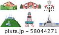 観光名所イメージアイコン 北海道編 58044271