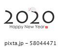 2020年子年年賀状 58044471