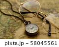 アンティーク 時計 懐中時計 地図 レトロ 58045561