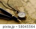 アンティーク 時計 懐中時計 地図 レトロ 58045564