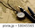 アンティーク 時計 懐中時計 地図 レトロ 58045565