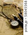 アンティーク 時計 懐中時計 地図 レトロ 58045568