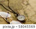 アンティーク 時計 懐中時計 地図 レトロ 58045569
