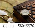 アンティーク 時計 懐中時計 地図 レトロ 58045570