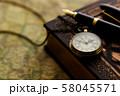 アンティーク 時計 懐中時計 地図 レトロ 58045571