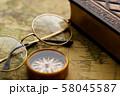 アンティーク 時計 懐中時計 地図 レトロ 58045587
