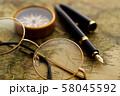 アンティーク 時計 懐中時計 地図 レトロ 58045592