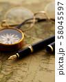 アンティーク 時計 懐中時計 地図 レトロ 58045597