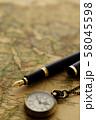 アンティーク 時計 懐中時計 地図 レトロ 58045598