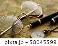 アンティーク 時計 懐中時計 地図 レトロ 58045599