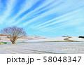 冬の見晴らしの丘 58048347