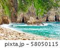 伊豆半島浮島海岸の風景、静岡県賀茂郡西伊豆町にて 58050115