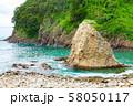 伊豆半島浮島海岸の風景、静岡県賀茂郡西伊豆町にて 58050117