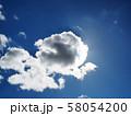 太陽を隠す雲 青空と雲 58054200