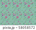 Colorful floral pattern. Vector pattern. Background with flowers. 58058572