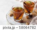 Spicy apple cider, autumn drink 58064782
