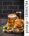Beer and pretzels. Oktoberfest concept 58064784