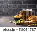 Beer, pretzels and Bavarian food 58064787