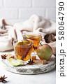 Spicy apple cider, autumn drink 58064790