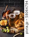 Beer, pretzels and Bavarian food 58064794