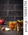 Spicy apple cider, autumn drink 58064795