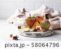 Spicy apple cider, autumn drink 58064796