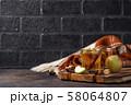 Spicy apple cider, autumn drink 58064807