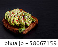 Avocado toast. Vegan sandwich healthy lunch recipe 58067159