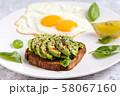 Avocado breakfast. Egg sandwich healthy toast meal 58067160