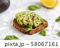 Avocado sandwich. Vegan snack for lunch. Healthy 58067161