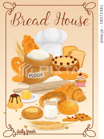 Bread and bakery food products 58072481