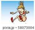陸上競技 女子 走幅跳 イラスト 58073004