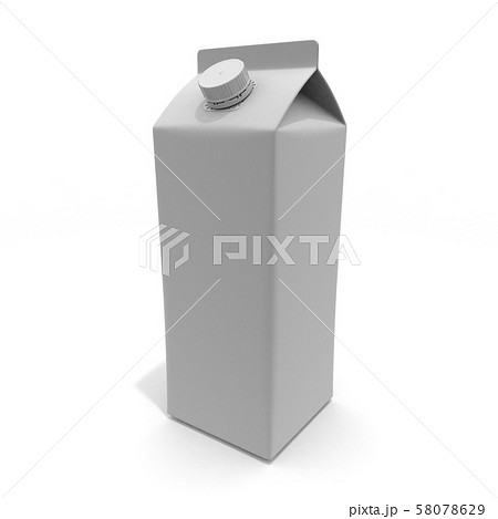 牛乳パック 1本 3Dイラスト 58078629