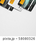 Credit card on white background. 58080326
