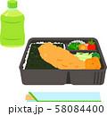 海苔弁当とペットボトル入りのお茶と割り箸 58084400