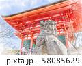 日本の秋 京都 清水寺 仁王門 58085629