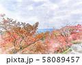 日本の秋 清水寺からの京都の街並み 58089457