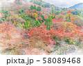 日本の秋 清水寺からの紅葉 58089468