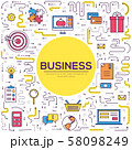 Business vector thin line 58098249