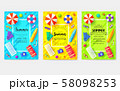 summer vecetion time vector brochure cards set. Ecology template of flyear, magazines, poster, book 58098253