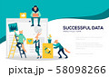 Analysis of sales, statistic grow data, accounting 58098266