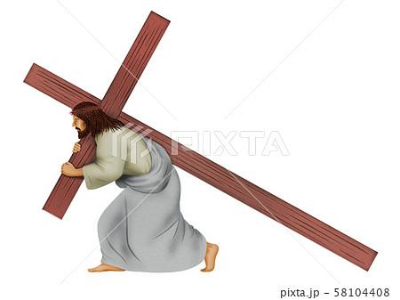 十字架を背負うキリスト 58104408